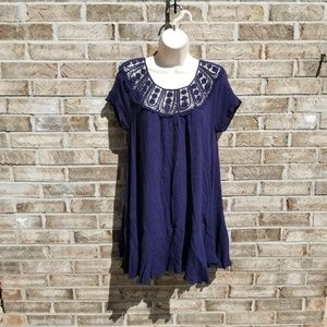 Altar'd State Boho Navy Tunic Top